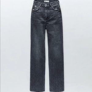 Zara 90s premium mid rise full length jeans